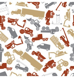 heavy machinery color seamless pattern eps10 vector image vector image