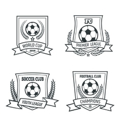 Soccer and Football Emblem Set vector image vector image