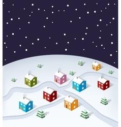 City Christmas vector image
