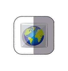 color earth planet emblem icon vector image vector image
