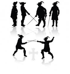 Royal musketeers vector