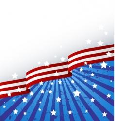 usa flag theme vector image vector image