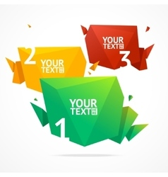 Abstract geometric option banner vector