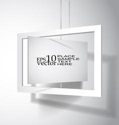 Hanging board vector image vector image