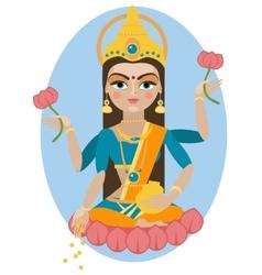 Lakshmi deity vector image