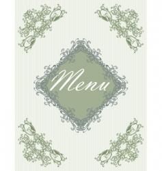menu09 vector image vector image