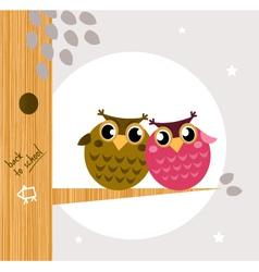 owl friends vector image