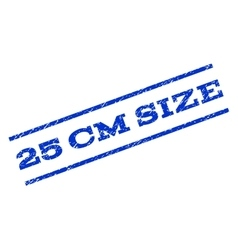 25 cm Size Watermark Stamp vector