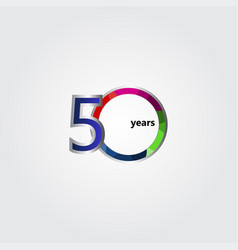 50 years anniversary template design vector