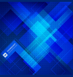 Abstract blue geometric square overlay background vector