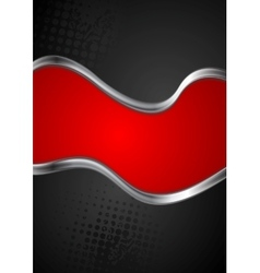 Abstract silver metallic waves background vector image