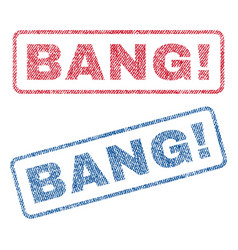 Bang exclamation textile stamps vector
