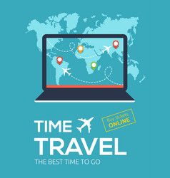 banner for online flight booking service travel vector image