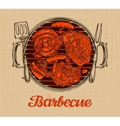 BBQ party Barbecue template of menu design vector