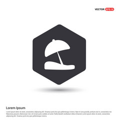 Beach umbrella icon hexa white background icon vector