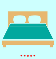 Bed it is icon vector