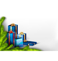 Blue Gifts vector