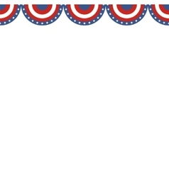 Border of American flag colors vector