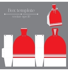 Box template Red glad rags vector