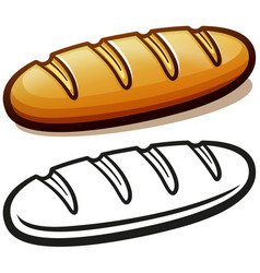 bread loaf cartoon isolated vector image