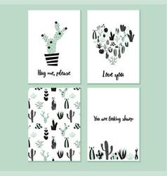 Cactus card vector