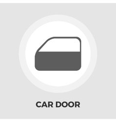 Car door flat icon vector