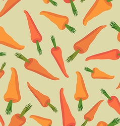Carrot seamless pattern Vegetable background vector image
