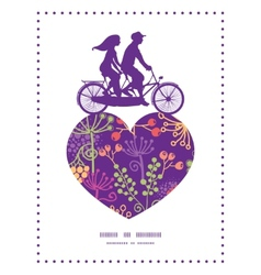 Colorful garden plants couple on tandem vector