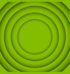 concentric circle greenery background vector image