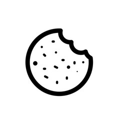 Cookie icon food vector
