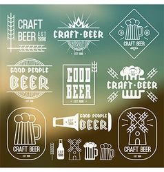 Craft beer brewery emblems vector image