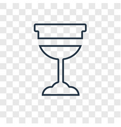 cup concept linear icon isolated on transparent vector image