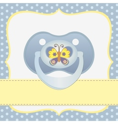 Cute template for baby card vector image