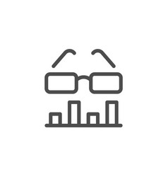 data analytics line icon vector image
