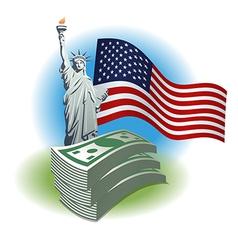 dollar money vector image