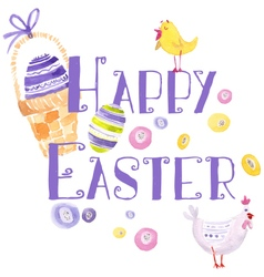 Easter Design Elements Watercolor vector