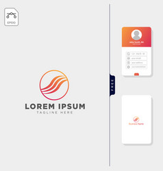 fashion beauty logo template free business card vector image