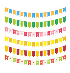 flag garlands for invitation card design vector image