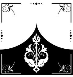 Folk floral frame vector