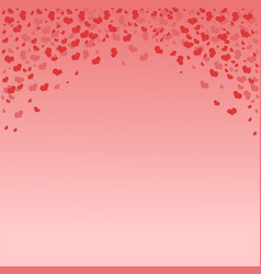 frame in form an arch with hearts vector image