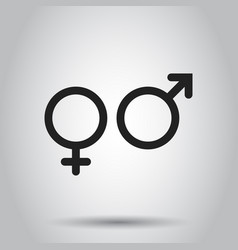 Gender sign icon on isolated background business vector