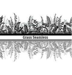 grass silhouette seamless vector image
