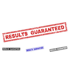 Grunge results guaranteed scratched rectangle vector