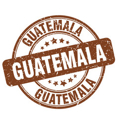 Guatemala brown grunge round vintage rubber stamp vector