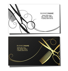 Hairdresser beauty salon business card vector