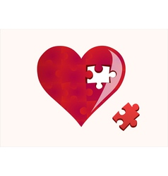 Heart and a missing piece vector