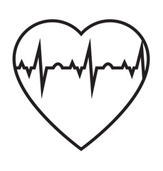 heart cardiogram simple medical icon in trendy vector image