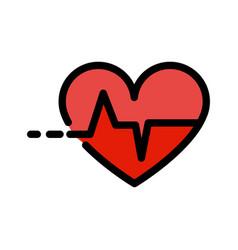 Heart pulse logo template color icon vector