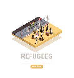 Immigrants isometric composition vector
