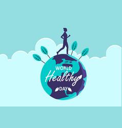 international health day logo vector image